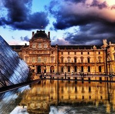 The Louvre, Paris by Margaret Zhang