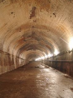 Underground tunnel at Street in Kansas City Kansas City Downtown, Kansas City Missouri, Oklahoma, Abandoned Buildings, Abandoned Places, Land Of Oz, City Streets, Places To Go, Hidden Places