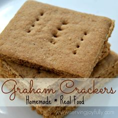 Do It Yourself: Homemade Graham Crackers real foods, real food recipes, food boards, snack, graham cracker