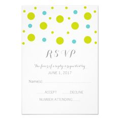 Green Teal Confetti Response Card by trendythings on Zazzle  @zazzle #zazzle #customizable #personalize #wedding #invitation #marriage #married #wed #bride #groom #bridal #shower #fun #planning #engage #engagement #party #event #couple #women #family #friends #invite #chic #modern #style #contemporary #buy #shop #sale #shopping #blog #blogging #look