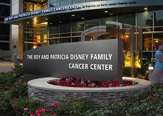 The Roy & Patricia Disney Family Cancer Center Monument Sign