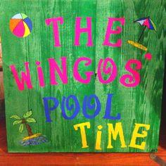 Wood pool sign..