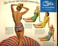 vintage swimwear pinup 1948 advertisement cole by FrenchFrouFrou,