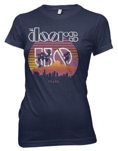 Doors 50th Anniversary Sunset Navy Womens T-Shirt