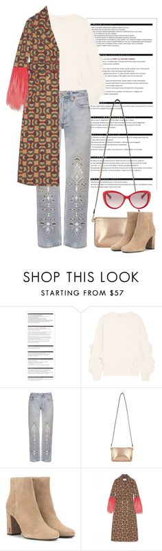 """Horsebit"" by cherieaustin on Polyvore featuring Arche, STELLA McCARTNEY, Bliss and Mischief, Miss Selfridge, Yves Saint Laurent, Gucci and Valentino"
