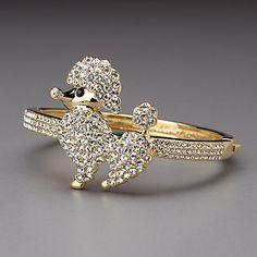 Crystal Poodle Cuff Bracelet by Lenox #iheartlenox #wedding