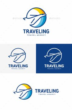 Travel Logo by Logo specifications: Full vectors 100 editable and scalable Editable colors CMYK colors Print ready Free fonts Archive inclides f Travel Agency Logo, Travel Logo, Travel Ad, Travel Trip, Logos, Logo Branding, Airport Logo, Fly Logo, Globe Logo