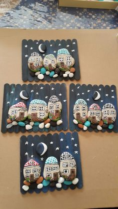 How to Make Painted Pebbles and River Stone Crafts? Kids Crafts, Diy And Crafts, Arts And Crafts, Easy Crafts, Pebble Painting, Pebble Art, Stone Painting, Pebble Stone, Stone Crafts
