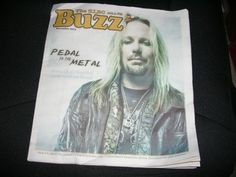 Motley Crue Vince Neil Pedal to the Metal BUZZ Newpaper on Cover