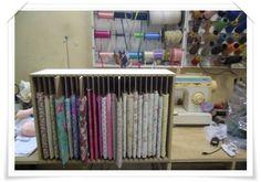 Quadro organizador de tecidos