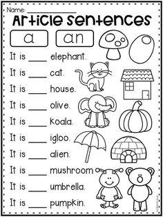 English Worksheets For Kindergarten, First Grade Math Worksheets, English Worksheets For Kids, Phonics Worksheets, Kindergarten Curriculum, English Activities For Kids, Homeschool Worksheets, Therapy Worksheets, Letter Worksheets