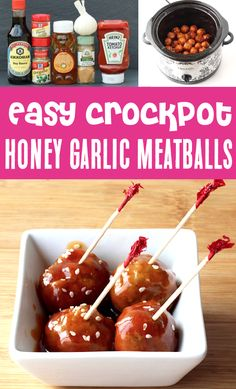 Crockpot Meatballs, Frozen - These Honey Garlic Meatballs are off the charts delicious, and SO easy to make! Serve them with rice as a delicious dinner, or with toothpicks for a fun party appetzier that will disappear before your eyes! Go grab the recipe and give them a try this week!