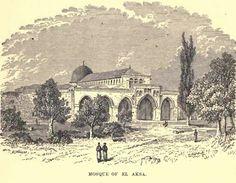 AL-AQSHA mosque (the blue dome) at Darussalam, Ūrsālim-Al-Quds • أورسالم القدس , Al-Quds, Bayt al-Maqdis Palestine1886