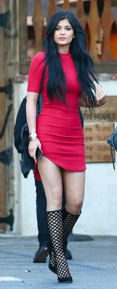 Steal: Kylie Jenner's H&M Red Bodycon Dress + Her Nasty Gal Brikell Orange Ribbed Dress