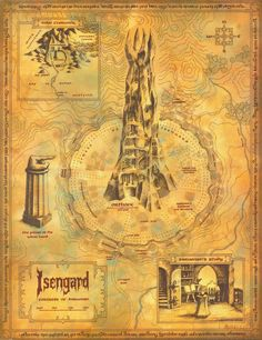 Map of Isengard Thranduil, Midle Earth, Tolkien Map, Middle Earth Map, O Hobbit, Fantasy Map, Fantasy House, Free Prints, Lord Of The Rings