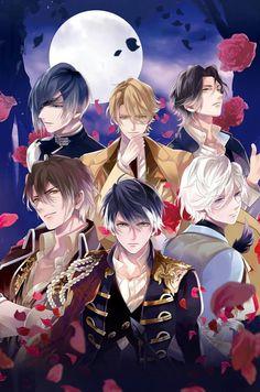 Handsome Anime Guys, Cute Anime Guys, Manga Anime, Anime Art, Samurai Love Ballad Party, Diabolik Lovers, Anime Love Couple, Shall We Date, Anime Angel