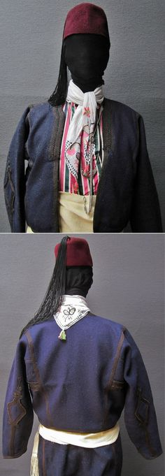 Close-ups of an Istanbul street wear, as worn by middle-class men originating from Trakya/Thrace or from the Marmara region.  Late-Ottoman, end of 19th century.  All garments of the costume are from that period. (Kavak Folklor Ekibi&Costume Collection-Antwerpen/Belgium).
