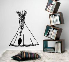 American Indian Teepee Tent Wall Art Sticker Vinyl Decal Various Sizes Wall Decals, Sticker Vinyl, Indian Teepee, Bird Wall Art, Teepee Tent, Smooth Walls, Beautiful Wall, Vinyl Designs, Home Collections