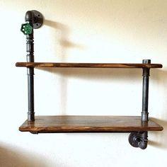 #pipefurniture #wood #shelf #loft #pipeshelf by steel_and_wood1