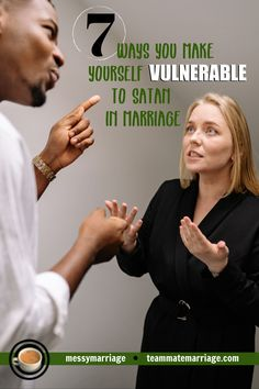 Vulnerable to Satan - This post deal with the temptation to view our mates as the enemy. #Satan #Enemy #spiritualwarfare #prayer #marriage #temptation Healthy Marriage, Happy Marriage, Marriage Advice, Love And Marriage, Christian Devotions, Christian Marriage, Christian Encouragement, Romans 15 5, Proverbs 31 Woman