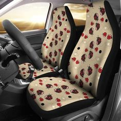 Lady Bugs Car Seat Covers car accessories, car accessory for woman, seat cover for car, lady bug Custom Car Accessories, Car Accessories For Women, My Dream Car, Dream Cars, Bug Car, Large Bucket, Premium Cars, Lady Bugs, Car Set