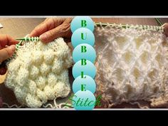 3D Bubble Knit | Bobble Knitted Stitch - YouTube