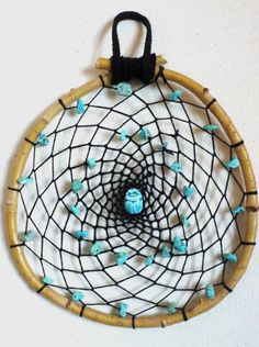 Handmade Willow Branch Dream Catcher With by TwistedFingerDesigns