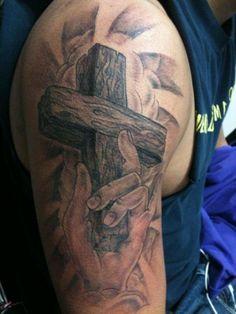 jesus on cross tattoos for men   ... Religious Cross Tattoo On Sleeve: The Faith of Religious Cross Tattoo