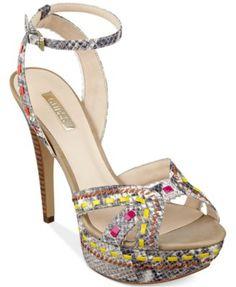 GUESS Women's Odonna Platform Dress Sandals | macys.com