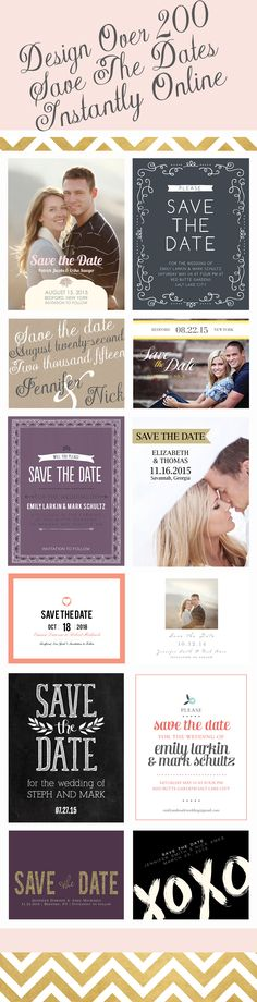 Design your magnet, postcard or traditional save the date cards instantly online.  Choose from over 200 different designs with realtime previews of every change.