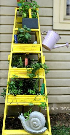 Ladder Planter --The TUTORIAL