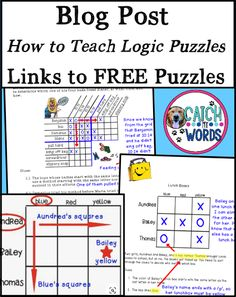Teachers, learn how to teach students to solve logic puzzles and download critical thinking activities for free. Awesome brain teasers for your Einstein or fast finisher. Great for homeschool 1st, 2nd, 3rd, 4th, 5th, 6th, 7th, or 8th grade, elementary or primary gifted and talented students. May be used as whole or small group or centers. (Level 1, 2, 3, 4, 5, 6, 7, 8) #tptfreebie #GT #teacherspayteachers #teacher #iteachtoo #education #edu #teachersfollowteachers Less Teaching 5th Grade, 5th Grade Classroom, 4th Grade Math, Student Teaching, Physics Classroom, Third Grade, Free Teaching Resources, Teaching Activities, Teach For America