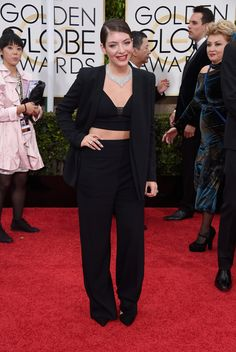 Lorde, in Narciso Rodriguez, with Neil Lane jewels. The 2015 Golden Globe Awards: Live From the Red Carpet - Gallery - Style.com