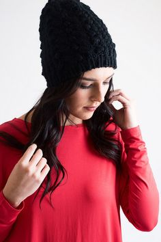Cap It Off Black Knit Hat - Final Sale – Single Thread Boutique, $12.00 #black #knit #hat #beanie #winter #accessory #chunky #fashionable #singlethreadbtq #shopstb #boutique