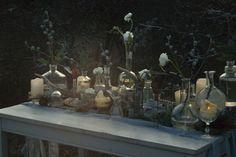 FLÓRA Floral Botanical Atelier Winter wedding / industrial / flower laboratorie