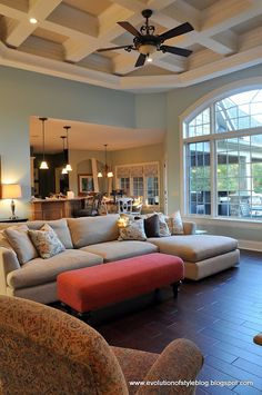 Guest Color Palette {Jenny from Evolution of Style}. Guest Color Palette {Jenny from Evolution of Style}. – The Creativity ExchangeThe Creativity Exc My Living Room, Home And Living, Living Spaces, Floor Design, House Design, Palladian Blue, Sweet Home, Room Paint Colors, Up House