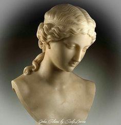 Roman Sculpture, Pottery Sculpture, Sculpture Clay, Aphrodite, Greek Statues, Face Images, Art Academy, Portrait, Art Pictures