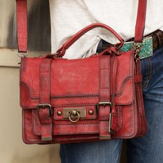 This adorable little Frye satchel is the perfect bag for fall. http://www.countryoutfitter.com/products/34089-cameron-small-satchel-burnt-red/?lhb=style&lhs=p