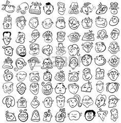 Mensen worden geconfronteerd cartoon vector pictogram Stockfoto