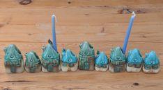 Ceramics Menorah with small houses  Hanukkah by SergioFaingold, $105.00