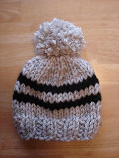 Ravelry: Toddler Rugby Hat pattern by Fiber Flux. toque