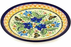 beautiful Polish stoneware plate from Polish Pottery Online $21.95