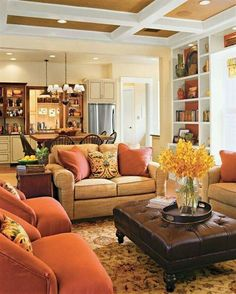 Warm colors living room