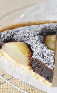 Tarte aux poires et chocolat Sweet Recipes, Cake Recipes, Dessert Recipes, Parfait Desserts, French Food, Culinary Arts, Food Inspiration, Sweet Tooth, Deserts