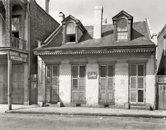 "New Orleans circa 1937. ""813-815 Toulouse Street."" Shorpy Historical Photo Archive :: Toulouse Street: 1937"