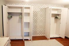 cute & co. bedroom storage, armoire, wardrobe, aspelund ikea