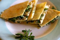 Purslane Quesadilla - These look yummy! I'm making them tomorrow.