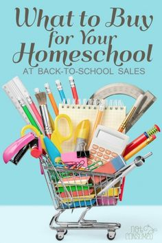 Wondering what to buy for your homeschool in those back-to-school sales?  Need to get your list organized? You'll love this FREE printable!