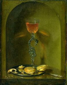 Isaack Luttichuijs Still Life with Bread and Wine Glass 17th century
