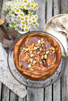 supergolden bakes: Nutella & salted caramel cheesecake